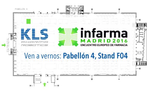 KLS Pharma Robotics estará presente en el encuentro europeo de farmacia Infarma los próximos 8, 9 y 10 de marzo de 2016
