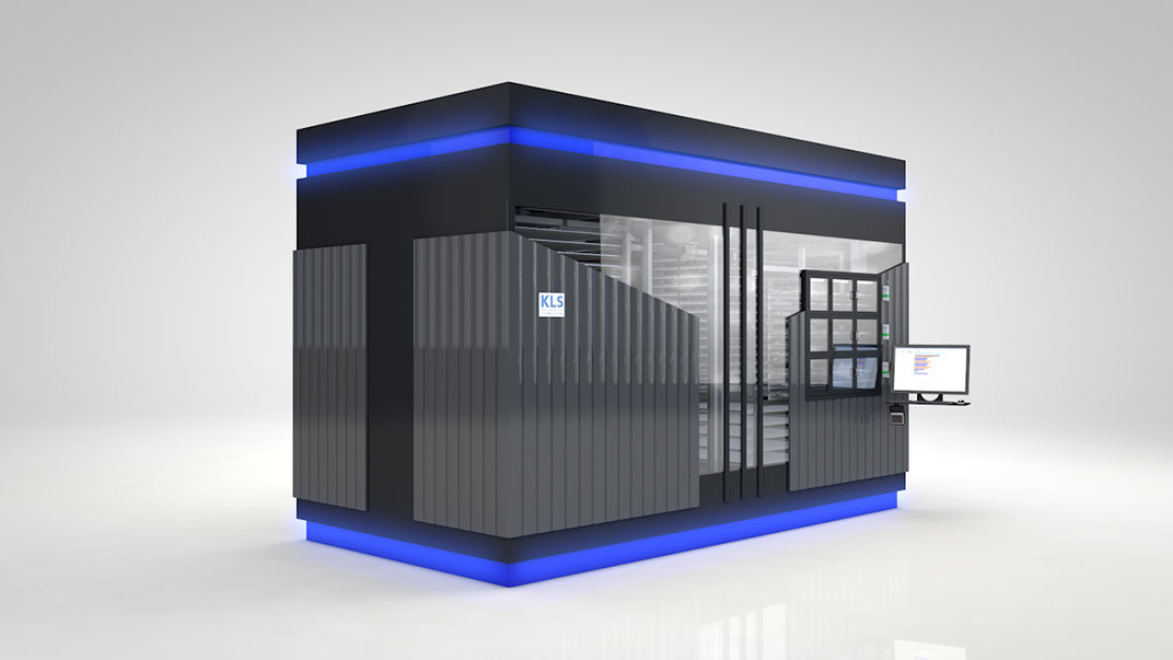Robot de farmacia económico KLS PowerLoad perfecto para medianas y pequeñas farmacias