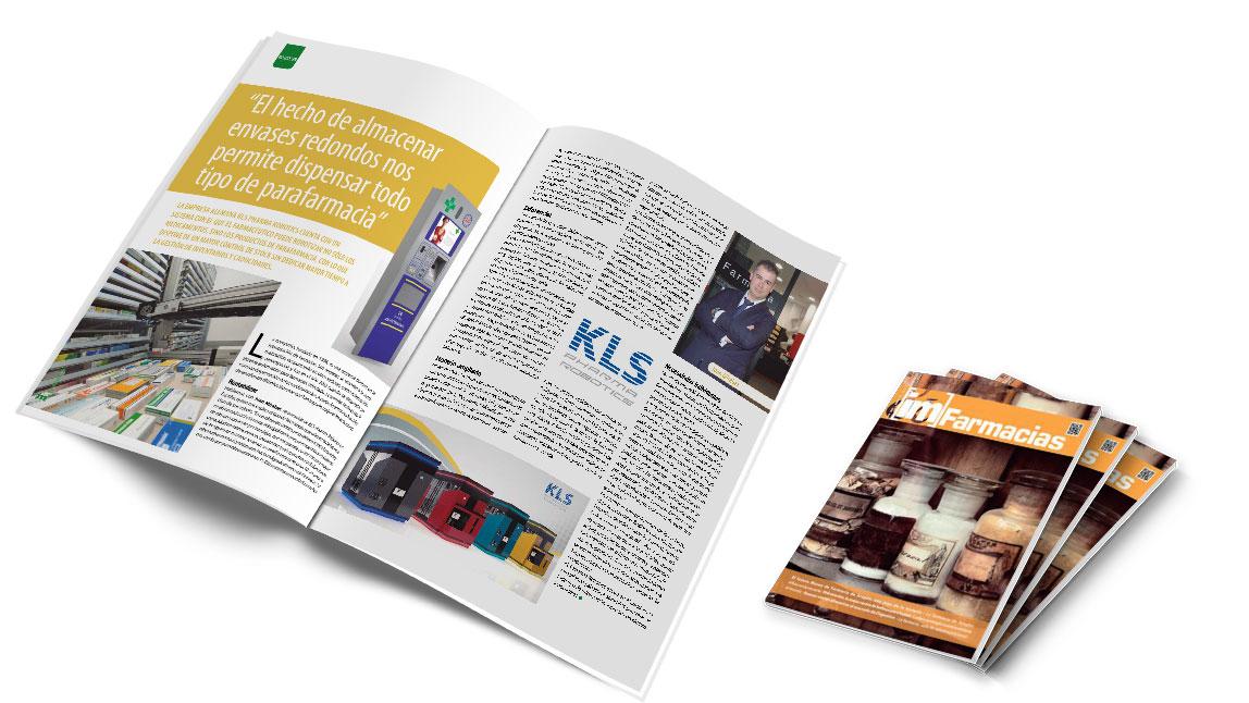 La revista IM Farmacias destaca la gestión de envases redondeados de los robots de farmacia de KLS