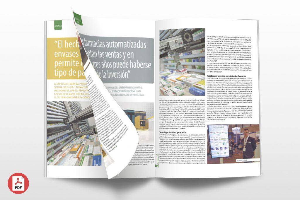 """Artículo Revista Im Farmacias: """"Las farmacias automatizadas aumentan las ventas y en apenas tres años puede haberse recuperado la inversión"""""""