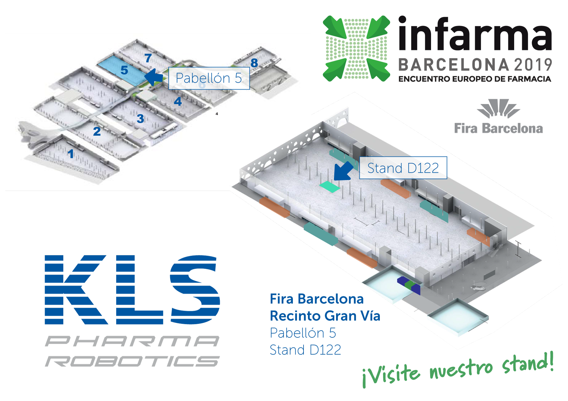 Stand KLS Pharma Robotics en Infarma Barcelona 2017